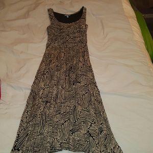 Plenty by Tracy Reese Black and Ivory Midi Dress