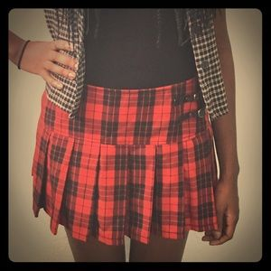 Abbey Dawn by Avril Lavigne Dresses & Skirts - 🎉HP🎉Plaid Red & Black Skirt