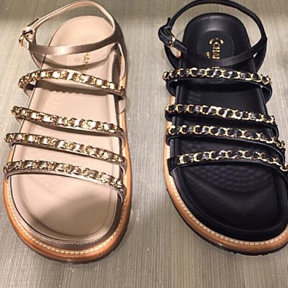 89c0b15af51b Chanel Spring 2015 Chain Sandals