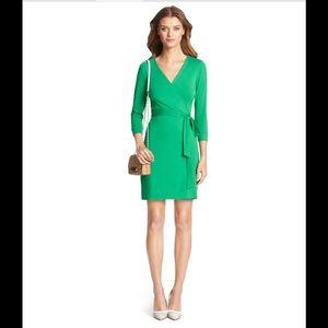 Diane von Furstenberg Dresses & Skirts - Diane von Furstenberg Khaki Julian Mini Wrap Dress
