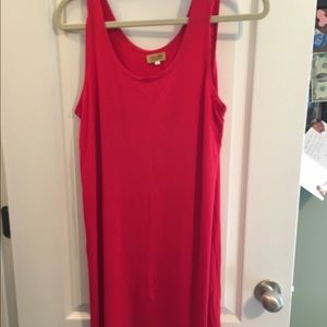 Red Piko Tank Dress