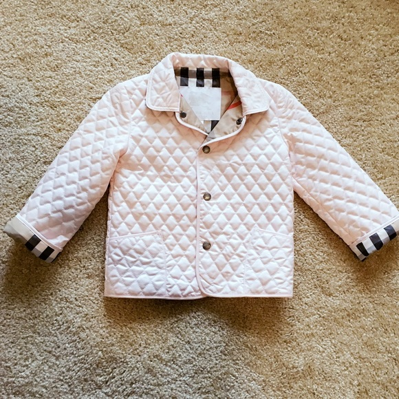 Authentic Burberry Kids Pink Quilted Jacket 3t