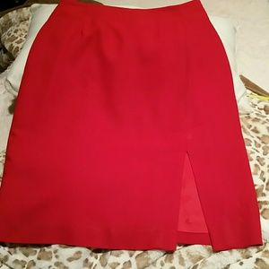 2Chillies Dresses & Skirts - Harolds Red Lined Skirt Size 2