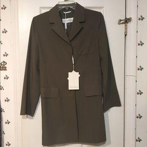 Maxmara new olive green coat jacket duster size 4