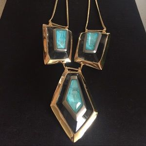 Alexis Bittar Jewelry - 60% OFF Alexis Bittar turquoise statement necklace