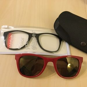 Carrera Accessories - CARRERA INTERCHANGEABLE SUNGLASSES RED BLACK