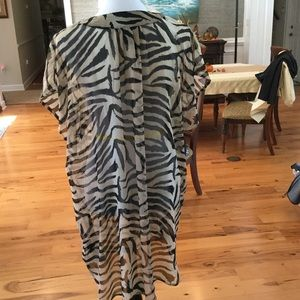 H&M Tops - REDUCED AGAIN ❗️Beaded Zebra print Tunic/Cover up