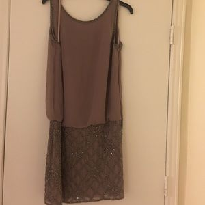 best sneakers bf8df 52b6c ... Adrianna Papell beaded dress ...