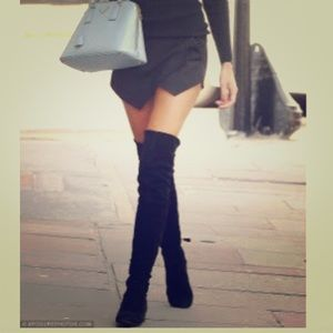 Nordstrom Shoes - Over the Knee Black Suede Boots