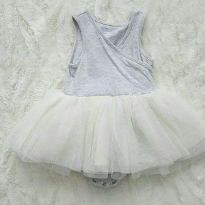 Grey & Cream Tutu Dress