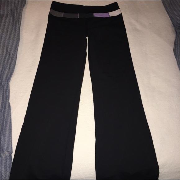 7f14b1215 lululemon athletica Pants - Lululemon Groove Pant with Purple Colorblock  Waist