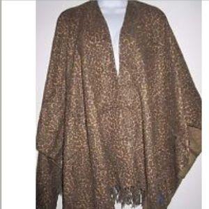 Chico's Jackets & Blazers - Leopard Print Poncho/Wrap🎀