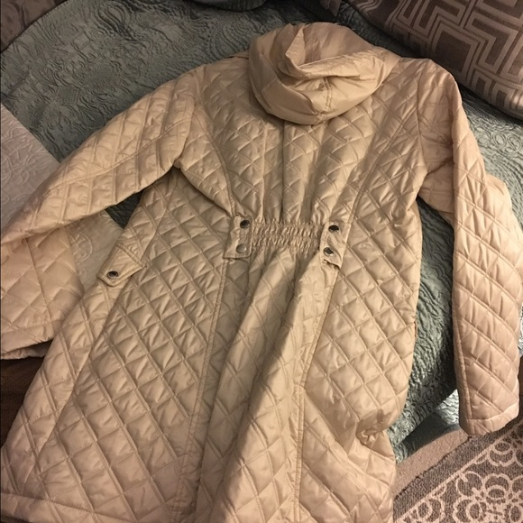 Laundry By Design Jackets Coats Beige Quilted Jacket With Hood