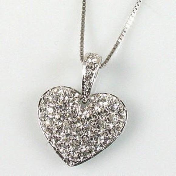 Swarovski jewelry crystal puffed heart pendant poshmark swarovski crystal puffed heart pendant mozeypictures Images