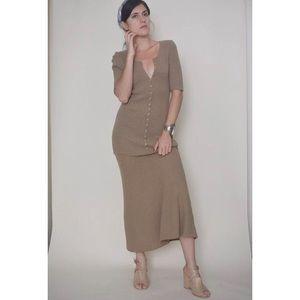 Vintage Taupe Knit Dress