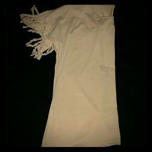 Tops - *Tan Tee with Fringe!*