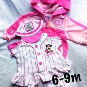 Majestic Other - EUC Baby Girl Mets/Minnie Mouse Baseball Bundle