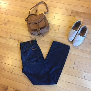 7FAM Dark Jeans Button Fly Size 29
