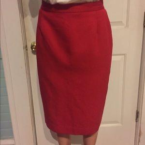 Koret Dresses & Skirts - Vintage Knee Length Red Pencil Skirt Size 10 p