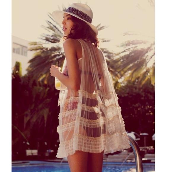 755c5610fd Free People Swim | Sheer Ruffle Bikini Cover Up | Poshmark