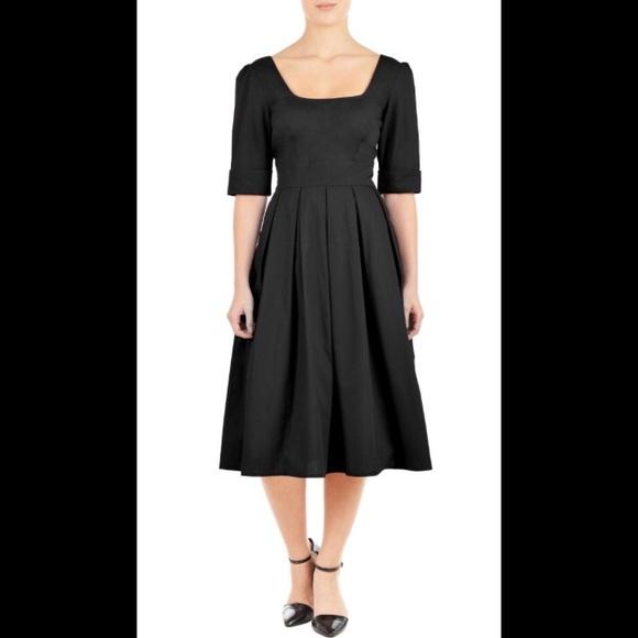 3a1aceb33 eshakti Dresses & Skirts - New Eshakti Black Fit & Flare Midi Dress 22W