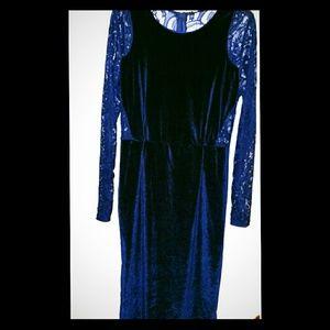 Velvet Royal Blue Dress