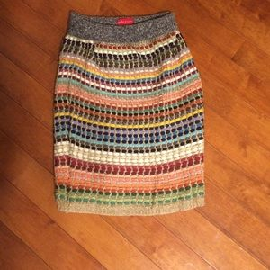 Anthropologie sweater skirt one size?