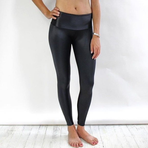 b214ccac253ab2 gts clothing Pants | Gts Liquid Leather Look Wet Black Yoga Leggings ...
