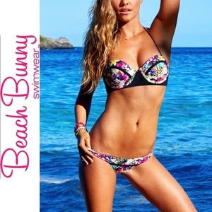 BEACH BUNNY Panama Animal Bikini Set Sz M/L