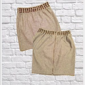 Urban outfitters heather grey studded mini skirt