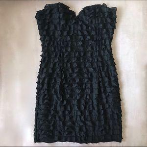 Forever 21 Dresses & Skirts - Forever 21 Black Ruffle Strapless Dress