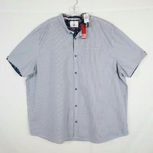 i jeans by Buffalo Other - Men's Striped Button Front Shirt Size 3XL Tall