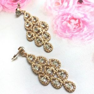 Jewelry - Teardrop Crystal Earrings