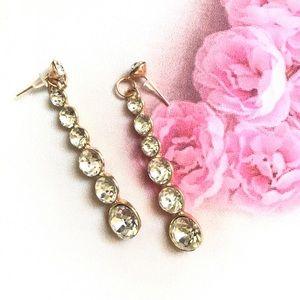 Jewelry - Rhinestone Long Dangle Earrings
