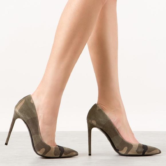 a6827357290 Saint Laurent Shoes   New Meghan Markle Ysl Camouflage Suede Paris ...