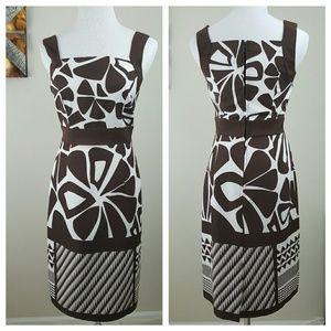 Sangria Dresses & Skirts - Sangria Brown & White Patterned Dress Size 4.