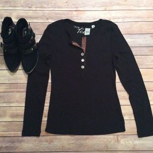 Cache Tops - 🌹 Host Pick NWT Cache Black Long Sleeve Top Large