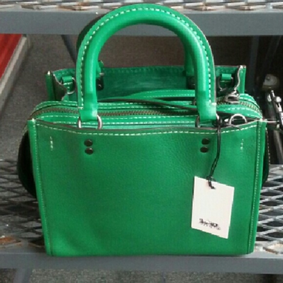 100% off Coach Handbags - Coach 1941 Rogue Bag 54536 Forest Green ...