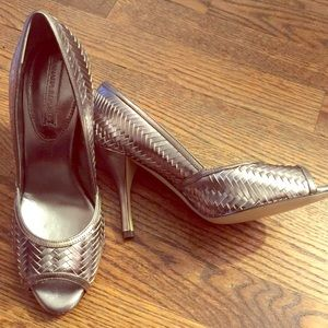 Banana Republic Shoes - Banana Republic silver Laci heels size 7.5