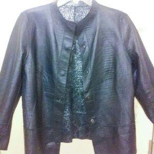 Reversible Leather Jacket Sz. M