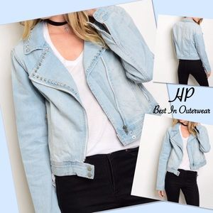 Shop The Trends Jackets & Blazers - Light Denim Jacket (Cute)