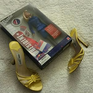 Pre-Loved Yellow Jimmy Choo Sandals  Fits 8.5