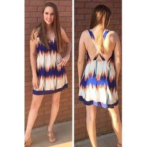 Stunning Earthquake Print Low-Back Dress Dress