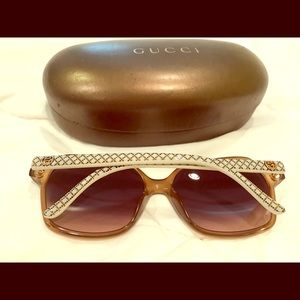 Authentic Gucci large frame sunglasses
