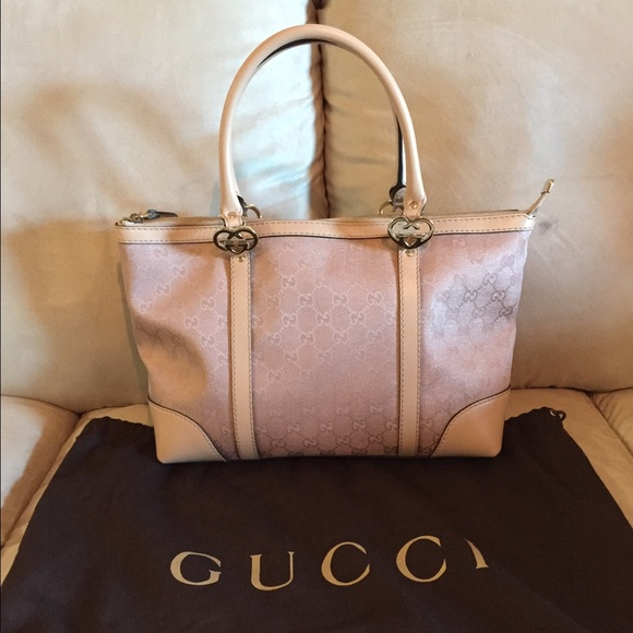 372c63c1bcd Gucci Handbags - New authentic Gucci metallic pink tote bag