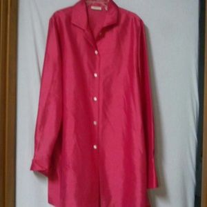 Valerie Stevens Tops - Valerie Stevens women size large silk shirt tunic