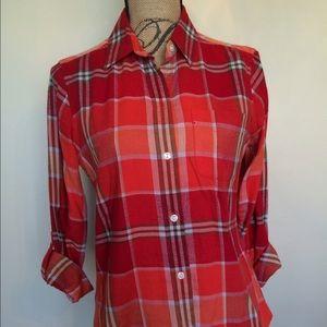 Lucky Brand plaid button front shirt