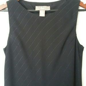 🎉💋Beautiful black dress w/ silver detail stripe