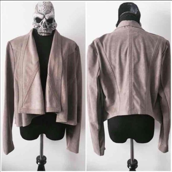 6b2755ac6dbeb2 BCBGMaxAzria Jackets   Blazers - BCBGMAXAZRIA Faux Suede Draped Jacket