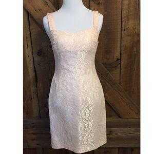 Vintage Dresses & Skirts - VTG Blush Lace Dress